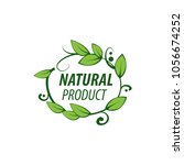natural product logo design... | Shutterstock .eps vector #1056674252