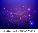 abstract technology digital... | Shutterstock .eps vector #1056678455
