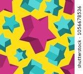 isometric 3d vector background... | Shutterstock .eps vector #1056678536