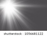 vector transparent sunlight... | Shutterstock .eps vector #1056681122