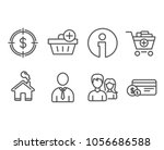set of dollar target  add...   Shutterstock .eps vector #1056686588