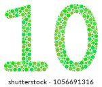 ten digits text mosaic of... | Shutterstock .eps vector #1056691316