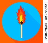 vector illustration. burning... | Shutterstock .eps vector #1056700955