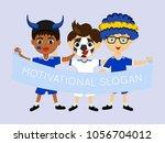 fan of european union national... | Shutterstock .eps vector #1056704012
