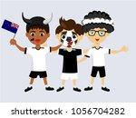 fan of new zealand national... | Shutterstock .eps vector #1056704282