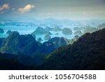 scenic view over ha long bay... | Shutterstock . vector #1056704588