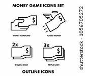 money game icon set outline...   Shutterstock .eps vector #1056705272