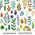 watercolor texture with flowers ... | Shutterstock . vector #1056706232