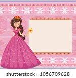 beautiful princess   cute happy ... | Shutterstock .eps vector #1056709628