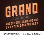 grand trendy retro display font ... | Shutterstock .eps vector #1056715262
