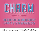 charm trendy pop art display... | Shutterstock .eps vector #1056715265
