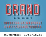 grand trendy retro display font ... | Shutterstock .eps vector #1056715268