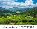 tea plantations in kerala | Shutterstock . vector #1056717986