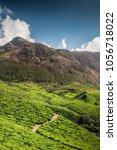 tea plantations in kerala | Shutterstock . vector #1056718022