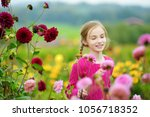 cute little girl playing in... | Shutterstock . vector #1056718352