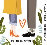 cute vector spring card with... | Shutterstock .eps vector #1056719948