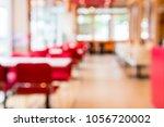 blurred background of restaurant | Shutterstock . vector #1056720002