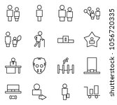 flat vector icon set   man and... | Shutterstock .eps vector #1056720335