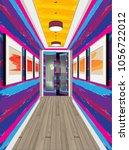 interior of the internal...   Shutterstock .eps vector #1056722012
