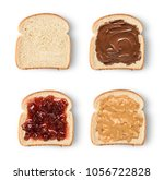 set of toast bread slices with...   Shutterstock . vector #1056722828