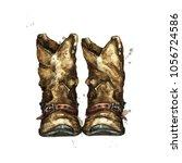 pair of cowboy boots.... | Shutterstock . vector #1056724586