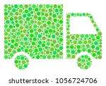 shipment van mosaic of circle... | Shutterstock .eps vector #1056724706