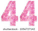 arabic numeral 44  forty four ... | Shutterstock . vector #1056727142