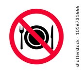 no eating allowed sign. red... | Shutterstock .eps vector #1056731666