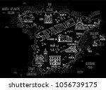 hand drawn vector illustration. ... | Shutterstock .eps vector #1056739175