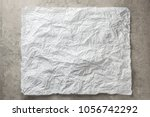 background frame of crumpled... | Shutterstock . vector #1056742292