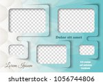 template for photo collage in... | Shutterstock .eps vector #1056744806
