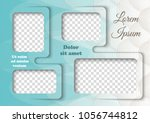 template for photo collage in... | Shutterstock .eps vector #1056744812