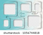 template for photo collage in... | Shutterstock .eps vector #1056744818