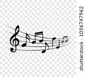 music notes  design element ... | Shutterstock .eps vector #1056747962