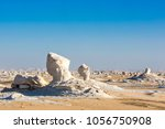 the white desert at farafra in... | Shutterstock . vector #1056750908