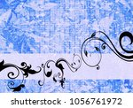 floral background design | Shutterstock . vector #1056761972