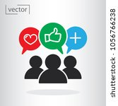 simple icon vector   flat... | Shutterstock .eps vector #1056766238