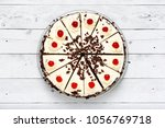 homemade black forest cake... | Shutterstock . vector #1056769718