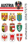 coat of arms of austria with... | Shutterstock .eps vector #1056772775