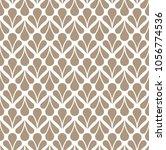 floral seamless art deco... | Shutterstock .eps vector #1056774536