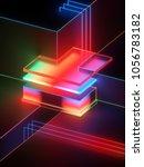 3d rendering  abstract... | Shutterstock . vector #1056783182