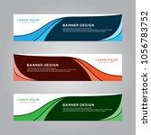 abstract modern banner... | Shutterstock .eps vector #1056783752