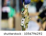 carabiner for climbing harness  ... | Shutterstock . vector #1056796292