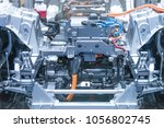 chassis of the electric car... | Shutterstock . vector #1056802745
