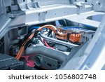 chassis of the electric car... | Shutterstock . vector #1056802748