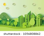 ecology and environment... | Shutterstock .eps vector #1056808862
