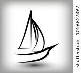 yacht  logo templates. sail... | Shutterstock .eps vector #1056822392