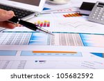 financial paper charts and... | Shutterstock . vector #105682592