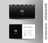 modern business card template... | Shutterstock .eps vector #1056826448
