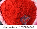 container of red holi festival... | Shutterstock . vector #1056826868